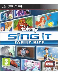 DISNEY SING IT FAMILY HITS voor Playstation 3 PS3