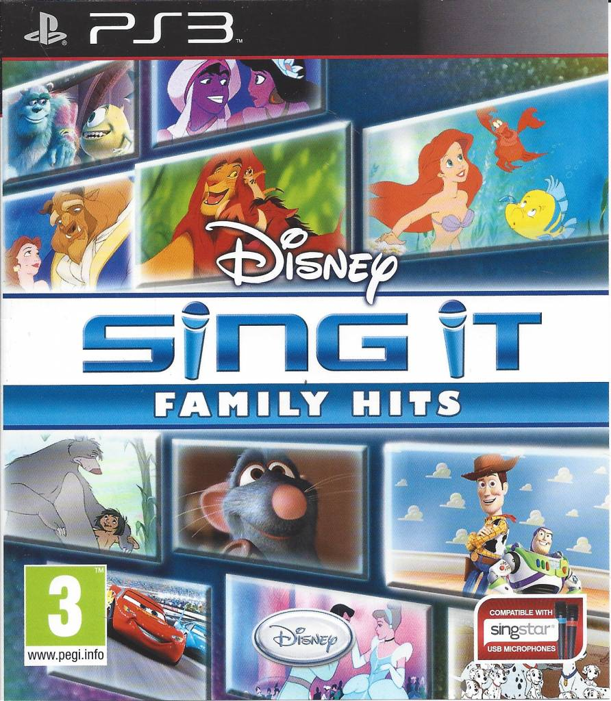 Family Games For Ps3 : Disney sing it family hits for playstation ps passion