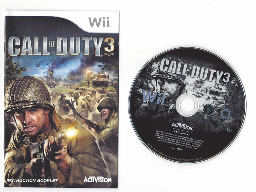 CALL OF DUTY 3 for Nintendo Wii