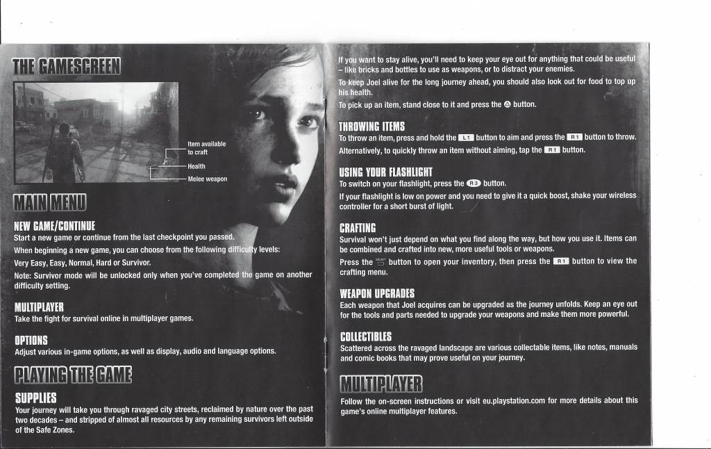 the last of us for playstation 3 ps3 passion for games webshop rh gamewebshop eu sony playstation 3 instruction manual playstation 3 instruction manual
