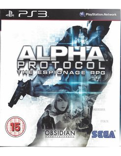 ALPHA PROTOCOL for Playstation 3 PS3