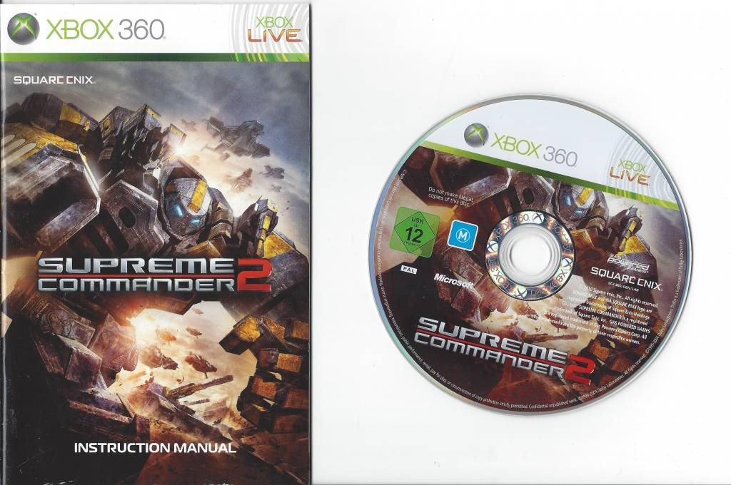 supreme commander 2 for xbox 360 passion for games webshop rh gamewebshop eu PS2 Instruction Manual Xbox Instruction Manual PDF