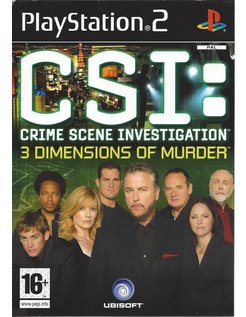 CSI CRIME SCENE INVESTIGATION - 3 DIMENSIONS OF MURDER voor Playstation 2 PS2
