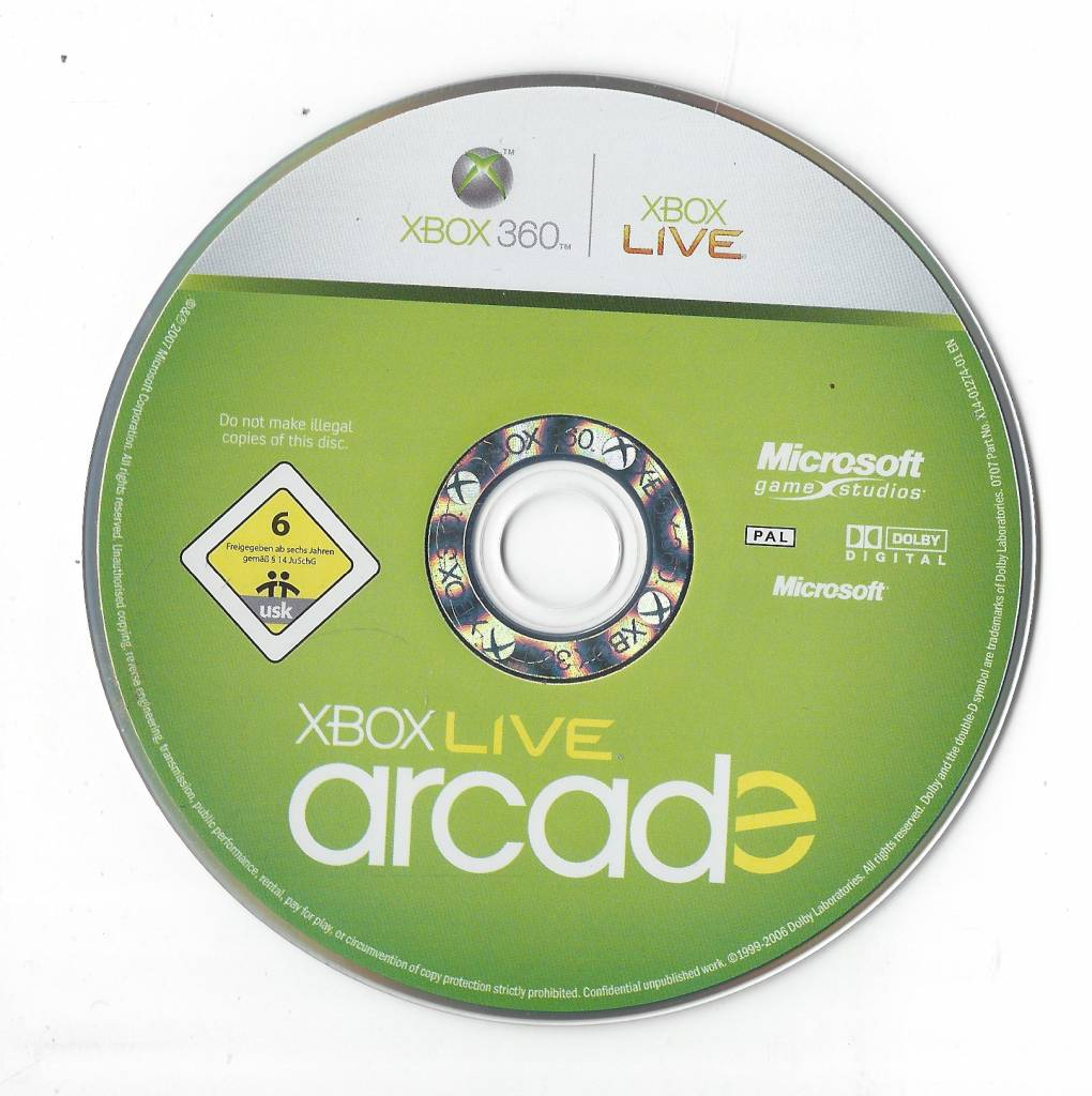 Xbox Live Arcade For Xbox 360 Passion For Games Webshop Passion
