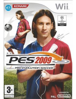 PES 2009 PRO EVOLUTION SOCCER for Nintendo Wii - manual in English