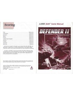 MANUAL for ATARI 2600 GAME CARTRIDGE DEFENDER II (2)