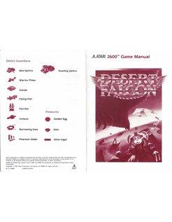 MANUAL voor ATARI 2600 GAME CARTRIDGE DESERT FALCON