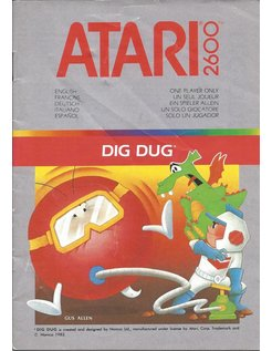 MANUAL für ATARI 2600 GAME CARTRIDGE DIG DUG