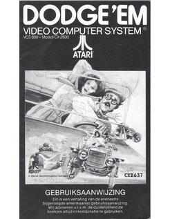 MANUAL for ATARI 2600 GAME CARTRIDGE DODGE 'EM DUTCH