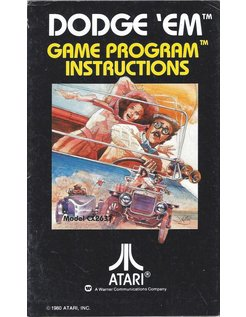 MANUAL für ATARI 2600 GAME CARTRIDGE DODGE 'EM