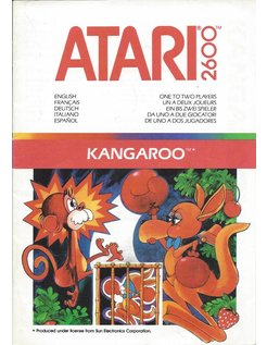 MANUAL für ATARI 2600 GAME CARTRIDGE KANGAROO