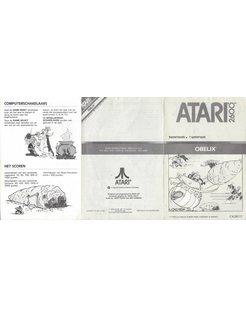 MANUAL for ATARI 2600 GAME CARTRIDGE OBELIX DUTCH