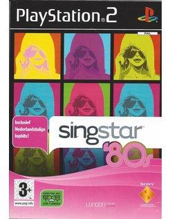 SINGSTAR 80s for Playstation 2 PS2 - Dutch