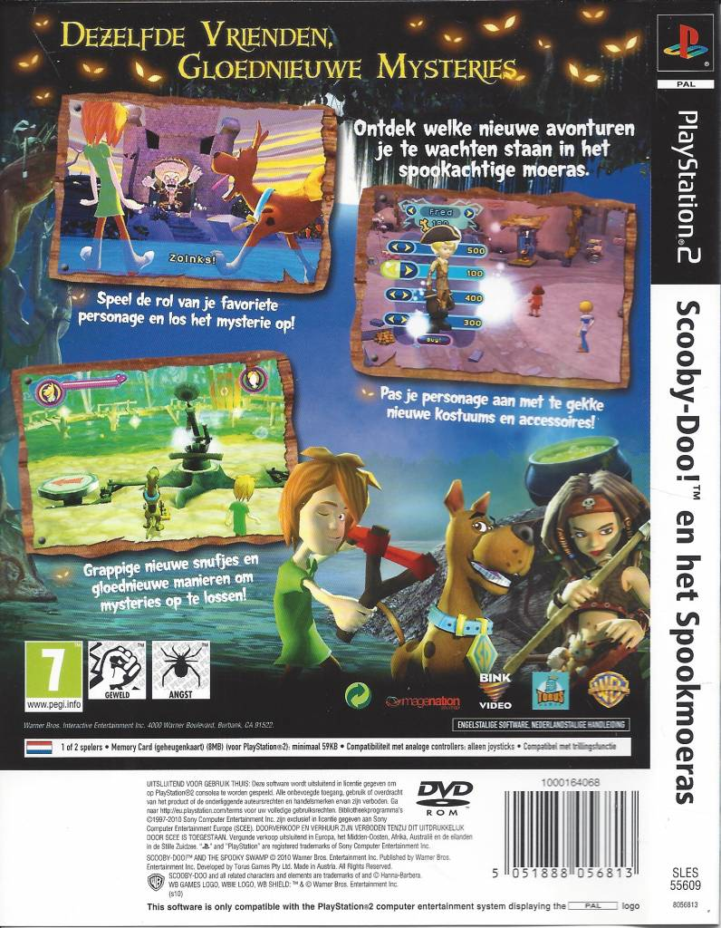 Scooby Doo En Het Spookmoeras Spooky Swamp For Playstation 2