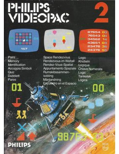 PHILIPS VIDEOPAC G7000 GAME 2 - PAIRS - SPACE RENDEZVOUS - LOGIC