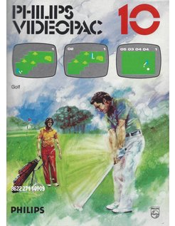 PHILIPS VIDEOPAC G7000 GAME 10 GOLF