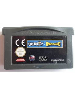 PAPERBOY & RAMPAGE double pack for Game Boy Advance GBA
