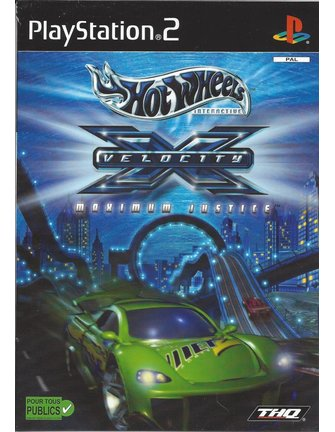 HOT WHEELS VELOCITY X MAXIMUM JUSTICE for Playstation 2 PS2