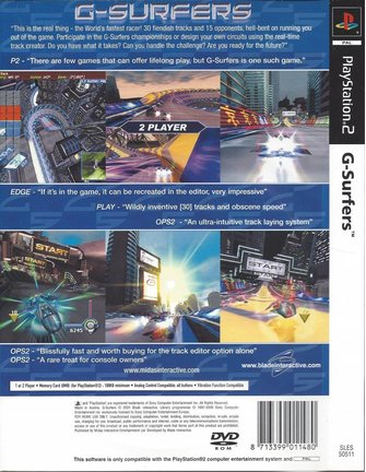 G-SURFERS for Playstation 2 PS2