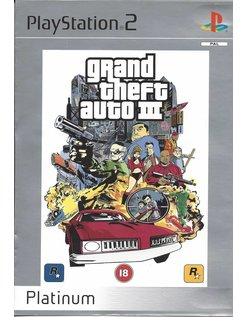 GRAND THEFT AUTO GTA III (3) voor Playstation 2 - Platinum