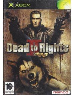 DEAD TO RIGHTS II (2) voor Xbox
