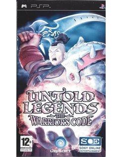UNTOLD LEGENDS THE WARRIOR'S CODE for PSP
