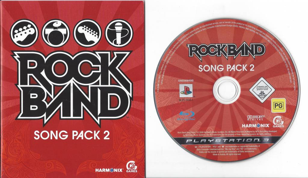 ROCK BAND SONG PACK 2 For Playstation 3 PS3