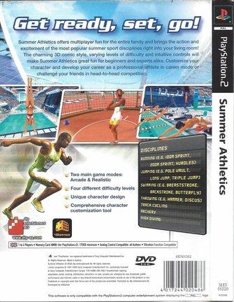 SUMMER ATHLETICS for Playstation 2 PS2