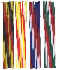"""""""Nationen"""" Knickhalm, in 3 Farben gestreift, Italien, Frankreich, Deutschland, Belgien"""
