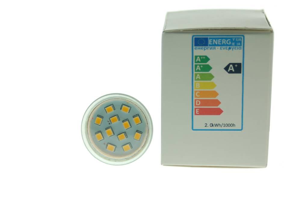 LED Strahler GU10 warmweiß 2 Watt 160 Lumen