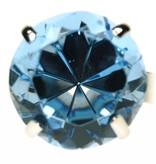 Serviettenring, 4er-Set, türkis blau