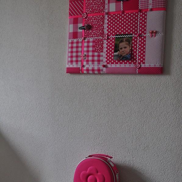 Memobord Patchwork roze wit, voor echte meisjes!