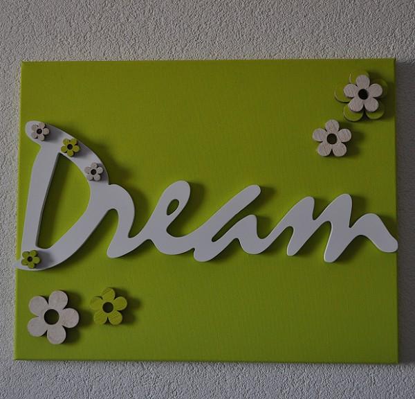 Schilderij met tekst DREAM