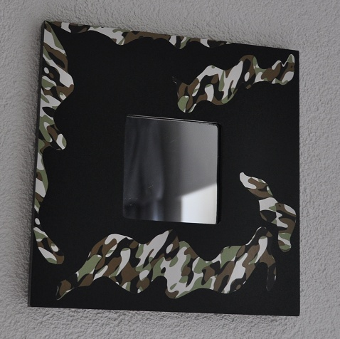 Spiegel camouflage, opvallend leuk!