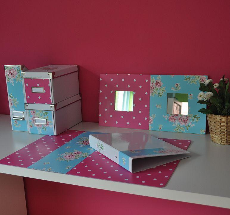 Spiegel Stip roze, hip met pink