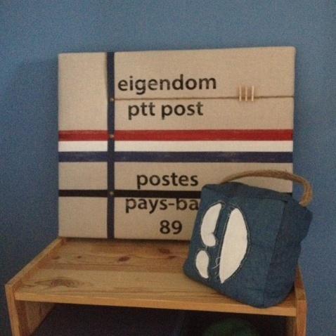 Memobord M PTT Post, de postzak aan de wand