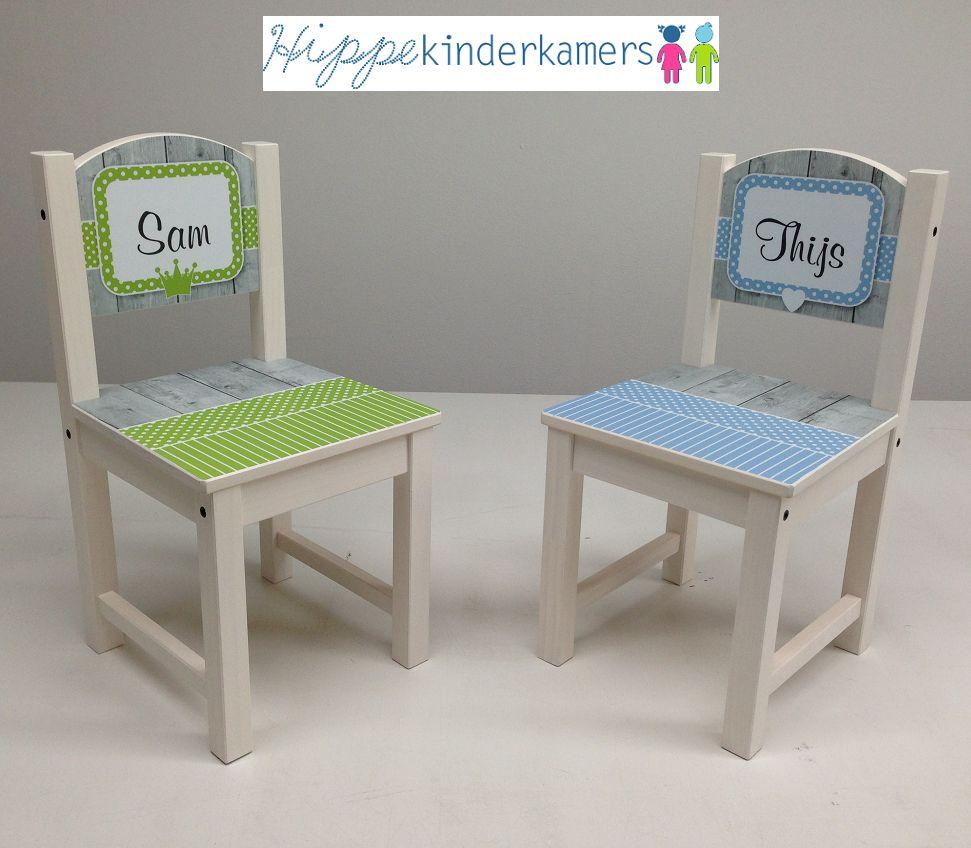 HippeKinderkamers Geboortestoeltje, stoeltje met geboortekaartje en naam kind