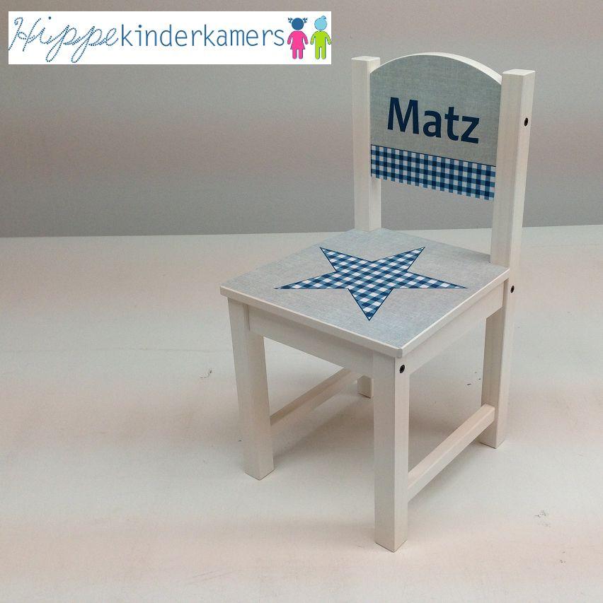 Geboortestoeltje, stoeltje met geboortekaartje en naam kind