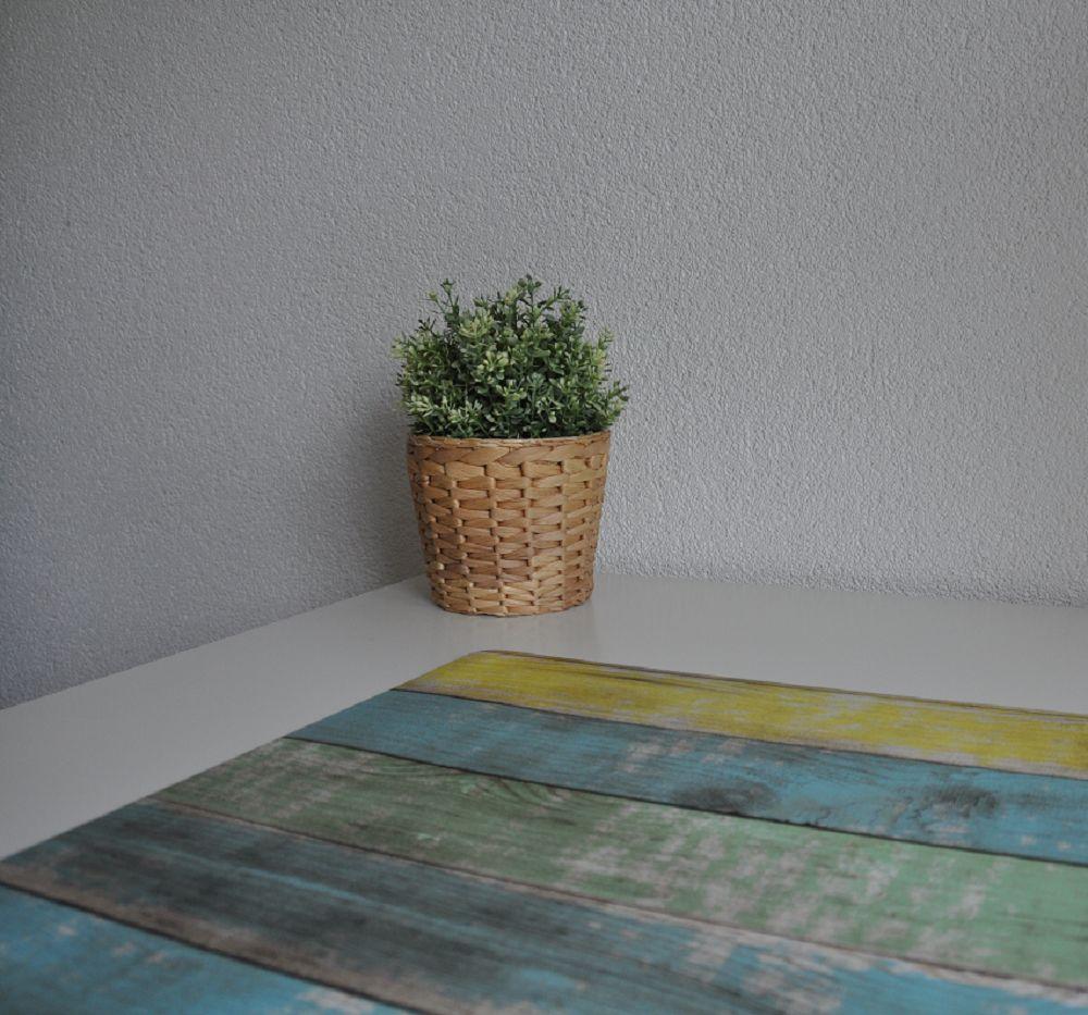Bureau onderlegger Steigerhout Blauw Groen