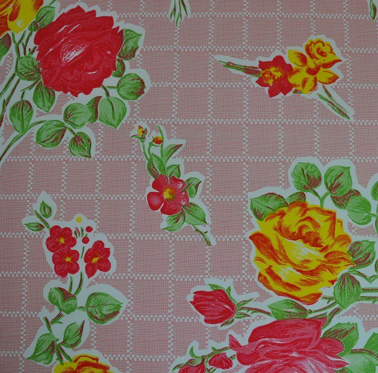 Bureau onderlegger Kitsch Kitchen ruit roze