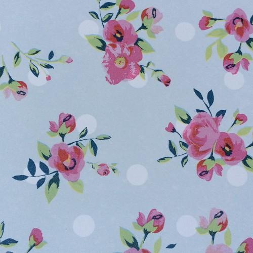 Bureau onderlegger LIEF stip & bloem roze