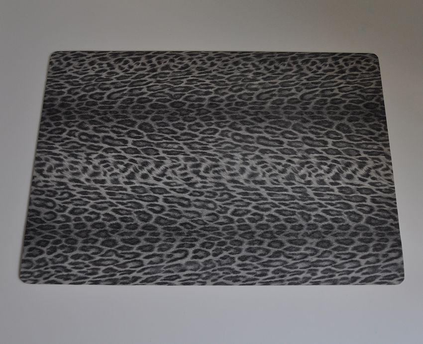 Bureau onderlegger Panter - Luipaard - diernprint - grijs - taupe - zwart