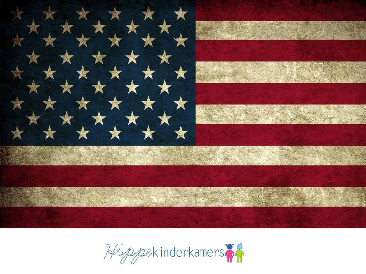 Bureaulegger Amerikaanse Vlag USA stoer amerika kamer jongen meisje