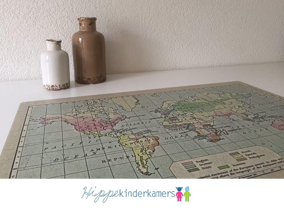 bureaulegger Wereldkaart oud world map