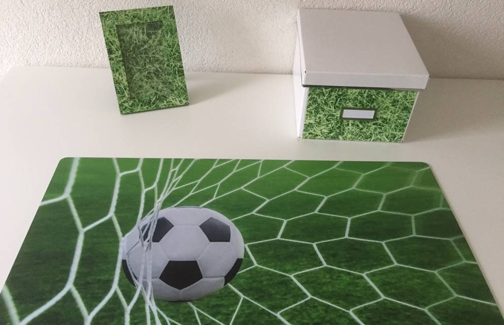 Bureau onderlegger voetbal GOAL in fris gras groen