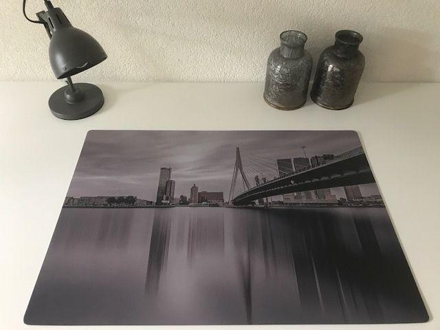 Bureau onderlegger Erasmusbrug, Skyline Rotterdam