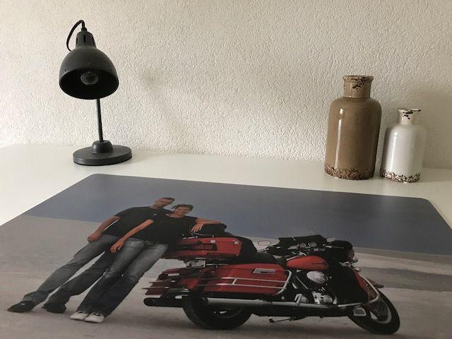 Bureau onderlegger met eigen foto