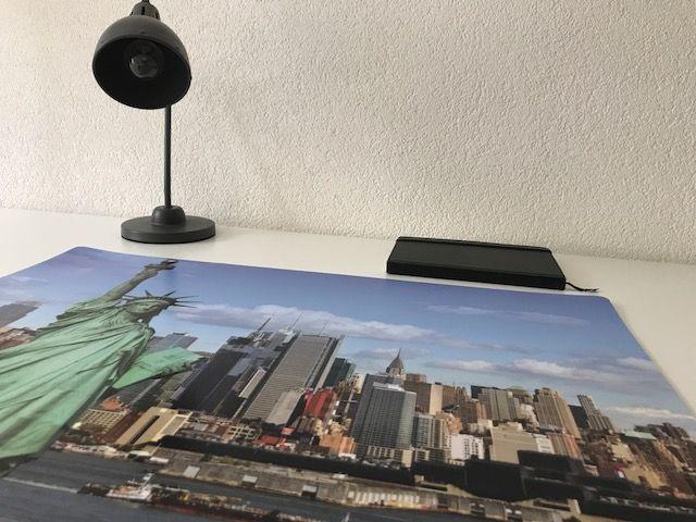 HippeKinderkamers Bureau onderlegger skyline NEW YORK USA