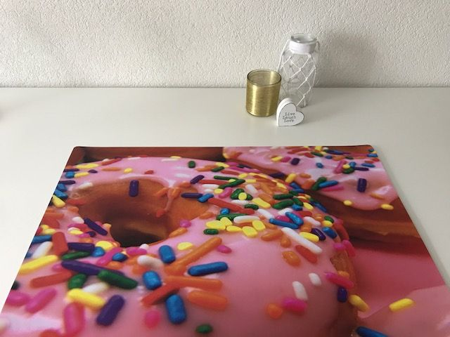 Bureau onderlegger sweet pink DONUT