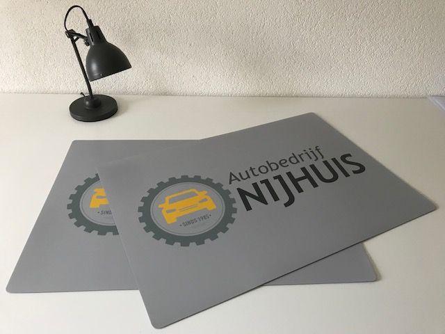 HippeKinderkamers Bureau onderlegger met eigen foto of logo